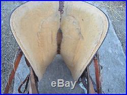 CRATES SADDLE Mike Beers Roper, calf roping tree, 15.5 HALF PRICE