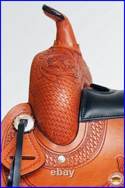 C-1-16 16 Hilason Gaited Western Trail Pleasure Endurance Horse Saddle Brown