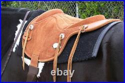 C-P200 Bareback Pad Saddle Baretek Natural Horse Treeless Leather Pad