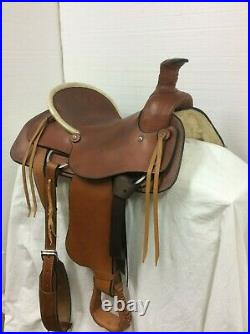 Circle M 16 A-Fork, Slick Seat Roper Regular Quarter Horse Bar's