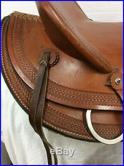 Circle M 17 Slick Seat, A-Fork Used Ranch/ Trail Saddle Full Quarter Horse Bar