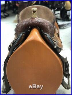 Circle Y 14 XP B1 Shooting Star Barrel Saddle #1537 Wide Tree Good Condition