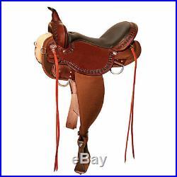 Circle Y High Horse Daisetta Saddle 16 Wide Tobac