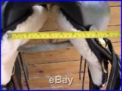 Circle Y High Horse El Campo Gaited Round Skirt Western Trail Saddle Black 16