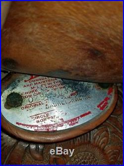 Circle Y The Proven Barrel Saddle 15 Seat -Full Quarter Horse Bars
