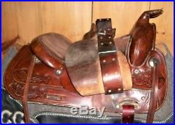 Circle Y Trail Saddle 15 Seat, 7 Gullet Nice Condition