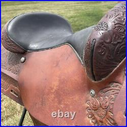 Circle Y Western Saddle 16 Seat Pleasure Trail Good Condition Nice Tooling