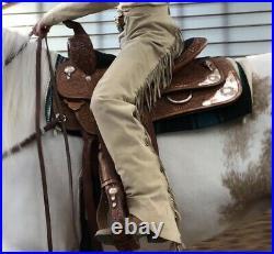 Circle Y Western Show Saddle- 16