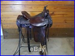 Circle Y all-around roper saddle 15.5in seat