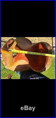 Circle y barrel saddle 14