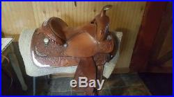 Circle y show saddle set 15in with matching bridle and breast collar