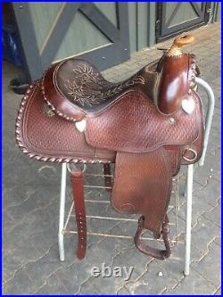 Cleburne Saddle Shop Darrel Slinkard Western Reining Saddle