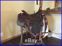 Complete Cowboy Tack Reining Saddle and bridle