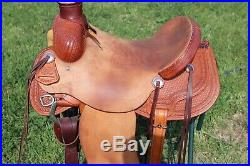 Courts Colt starting Ranch roping saddle