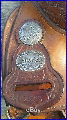 Crates Barrel Saddle 14