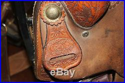 Custom Double J Saddle 16 Team Roping Saddle (R 1630)