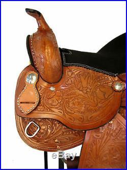 Custom Made Western Saddle 14 15 16 Snake Tooled Pleasure Trail Show Horse Tack