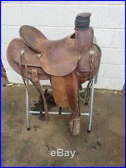 Custom Used Handmade Dale Frederick Wade Saddle! 15.5 inch Ranch Saddle