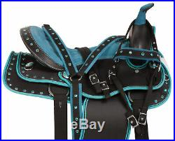 Cute Western Horse Saddle Pleasure Trail Barrel Tack Set Free Pad 15 16 17