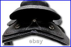 D. A. Brand 10 Black Leather Child's Western Pony Saddle with Suede Seat