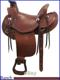 Dakota Saddlery Wade Tree Ranch Saddle 16 Seat #809