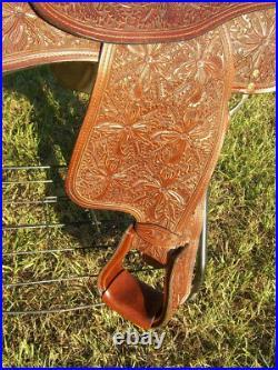 Dale Chavez Cupertino 16 Mahogony Saddle withMorning Glory Tooling