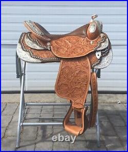 Dale Chavez Custom Cupertino 8 Corner Plate Alligator Seat Western Show Saddle