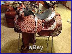 Dale Chavez Custom Show Saddle With Matching Breast Collar Gorgeous! 16 Fqhb