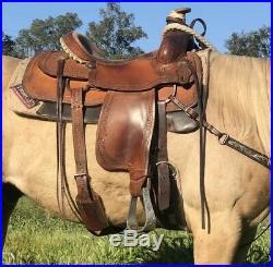 Dale Fredricks Motes Roper Roping Western Saddle 15