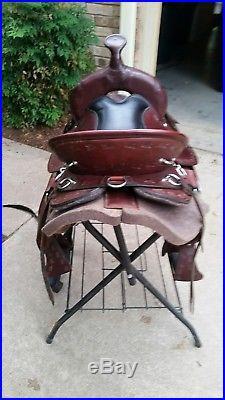 Dixieland Custom Gaited Saddle 17 Seat Matching Saddle Bags Wool Saddle Pad