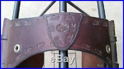 Dixieland Custom Gaited Saddle 17 Seat Matching Saddle Bags Wool