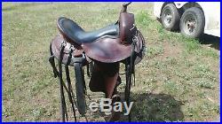 Dixieland Gaited Western Saddle 16 Seat Great Shape
