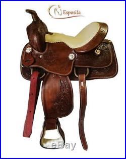 Esposita Westernsattel Set Texas Kids für Shetty und Pony, echtes Leder