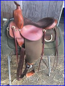 Fabtron Trail Saddle 15 Wide Tree Light Weight Brown