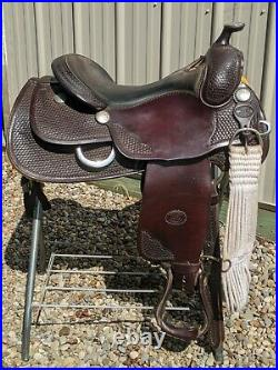 GORGEOUS 16 Billy Cook Reining saddle with cinch