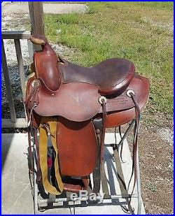 Genuine Fred Mueller 15 working ranch saddle see history of this saddle below