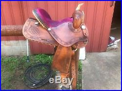 Guffey brand barrel saddle 15 in