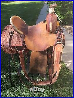 HR Roping Custom Made 15 1/2 Ranch Western Saddle Frisco, Texas
