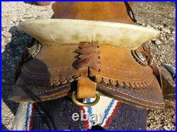 Hand made custom riding saddle 15 seat sante fe trail ride raw hide tree