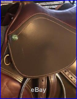 Henri De Rivel All Purpose 17 Saddle Hunter, Jumper, Stirrup Leathers