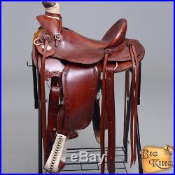 Hilason Big King Series Western Wade Ranch Roping Cowboy Trail Saddle 15 16 17