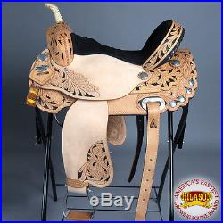 Hilason Treeless Western Barrel Racing Pleasure Trail Horse Saddle 14 15 16