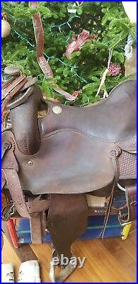 Jay Novacek Long Horn Cowboy Cutter Saddle 16.5