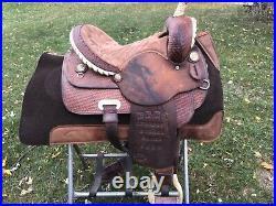 Kent Logan Trophy Barrel Racing Saddle 14