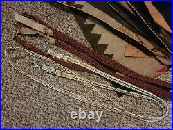 Large Western tack lot- saddle fittings- off billets, tie straps, stirrups- more