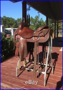 M L Leddy Cutting Saddle 15.5 Inch seat skirt 25 length