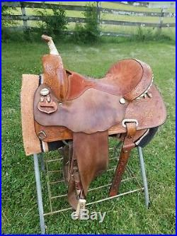 Martha Josey Circle Y Barrel Saddle 15