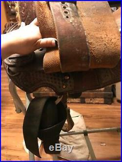Martha Josey barrel saddle by circle y, 13.5