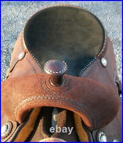 Martin Saddlery Cervi Crown C Barrel Horse Saddle 14 FQHB Chocolate Roughout