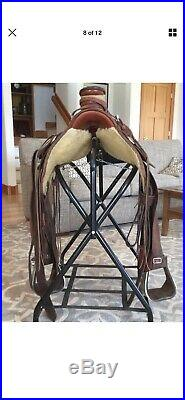 McCall Lady Wade 15 Ranch Slick Fork A-Fork Saddle + Breast Collar & Back Cinch